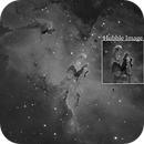 M16 - The Eagle Nebula (Hubble comparison),                                L. Fernando Parmegiani