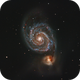 M51 Whirpool Galaxy Edge 11 at F10 with Oag,                                AstronomicallySpe...