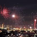 Fires in the Sky - First Minutes of 2015 in Araxá, Brazil,                                Odilon Simões Corrêa