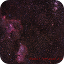 Heart and Soul nebulas with Perseus' double cluster,                                Francisco