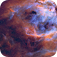 The Smoking Man - remote corner of NGC 3372 in NB,                                Andy 01