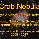 Crab Nebula (one decade time-lapse movie), video with music,                                DetlefHartmann