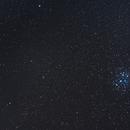 46P/Wirtanen with the Pleiades,                                greenbbs