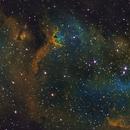 SH2-199 Soul Nebula Mosaic  SHO HST,                                Serge Caballero