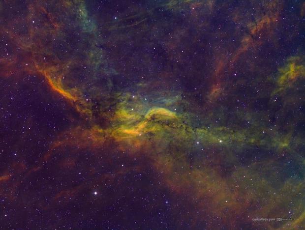 Propeller Nebula (Simeis 57) in HSTrgb,                                Jose Carballada