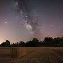 Vía Láctea de verano y Júpiter,                                Joan Riu
