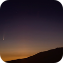 The Neowise comet above Volcano Etna,                                Astrofail94