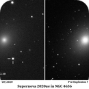 Supernova 2020ue in NGC 4636,                                PhotonCollector