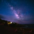 Milky way over the sea cliff.,                                Kapil K.