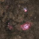 Laguna and Trifid Nebula,                                SeSonnen