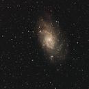 Galaxie M 33 im Sternbild Dreieck (Triangulum),                                astrobrandy