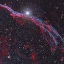 NGC6960 - West Veil nebula,                                Stellario