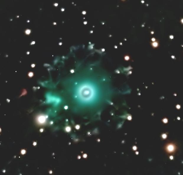 Das Halo des Katzenaugennebels NGC 6543,                                helmut herbel