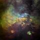 IC4628 Northeast Sector in HST Palette,                                John Ebersole