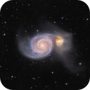 Whirlpool Galaxy M51 and extension jets  - added lum,                                Arnaud Peel
