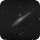ngc4631 of 9th of April - 432 60 secs unguided frames,                                Stefano Ciapetti