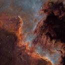 The Cygnus Wall at North America Nebula (NGC 7000) - SHO - RemoteSkies.net :-),                                Daniel Nobre