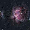 Running Man and Great Orion Nebula in Ha+LRGB,                                TomBramwell