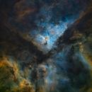 Dust and gases in Eta Carina,                                Leonel Padron