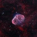 NGC 6888 - The Crescent Nebula in Cygnus in HOO,                                CrestwoodSky