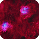 The Flaming Star and the Tadpoles Nebulae and surroundings,                                equinoxx