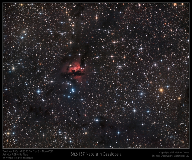 Sh2-187 Nebula in Cassiopeia,                                Mike Oates