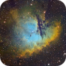 Pacman Nebula (NGC281)  in Hubble Palette (SII/Hα/OIII),                                Jose Carballada
