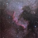 Horizontal: the Cygnus Wall imaged at -34° South,                                Todd