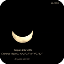 "Timelapse 34"" Partial Solar Eclipse 2015,                                Angelillo"