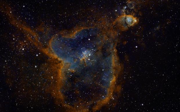 Heart Nebula in SHO,                                Andreas Dietz