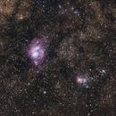 Lagoon Nebula & Milky Way widefield (cropped),                                Amra