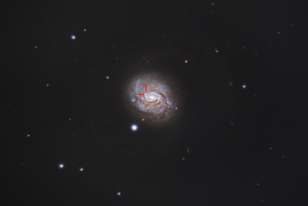 Supernova 2018ivc in M77,                                Shannon Calvert