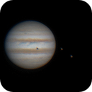 Animated GIF: Jupiter and two simultaneous shadows,                                Daniel Leclerc