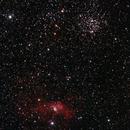 Bubble Nebula and M52,                                Jussi Kantola