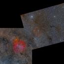 Elephant's Trunk, Barnard 150 and Fireworks Galaxy Two-Panel Mosaic,                                Die Launische Diva