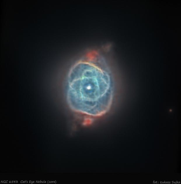 NGC 6543 - Cat's Eye Nebula (core),                                Łukasz Sujka