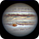 Jupiter with Io on C5, experiment with WinJUPOS 9x90sec,                                EnriMarch