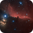 Horsehead and Flame Nebula in HaRGB,                                Evelyn Decker