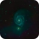 SRO M51 H-Alpha to LRGB Animated Gif,                                jerryyyyy