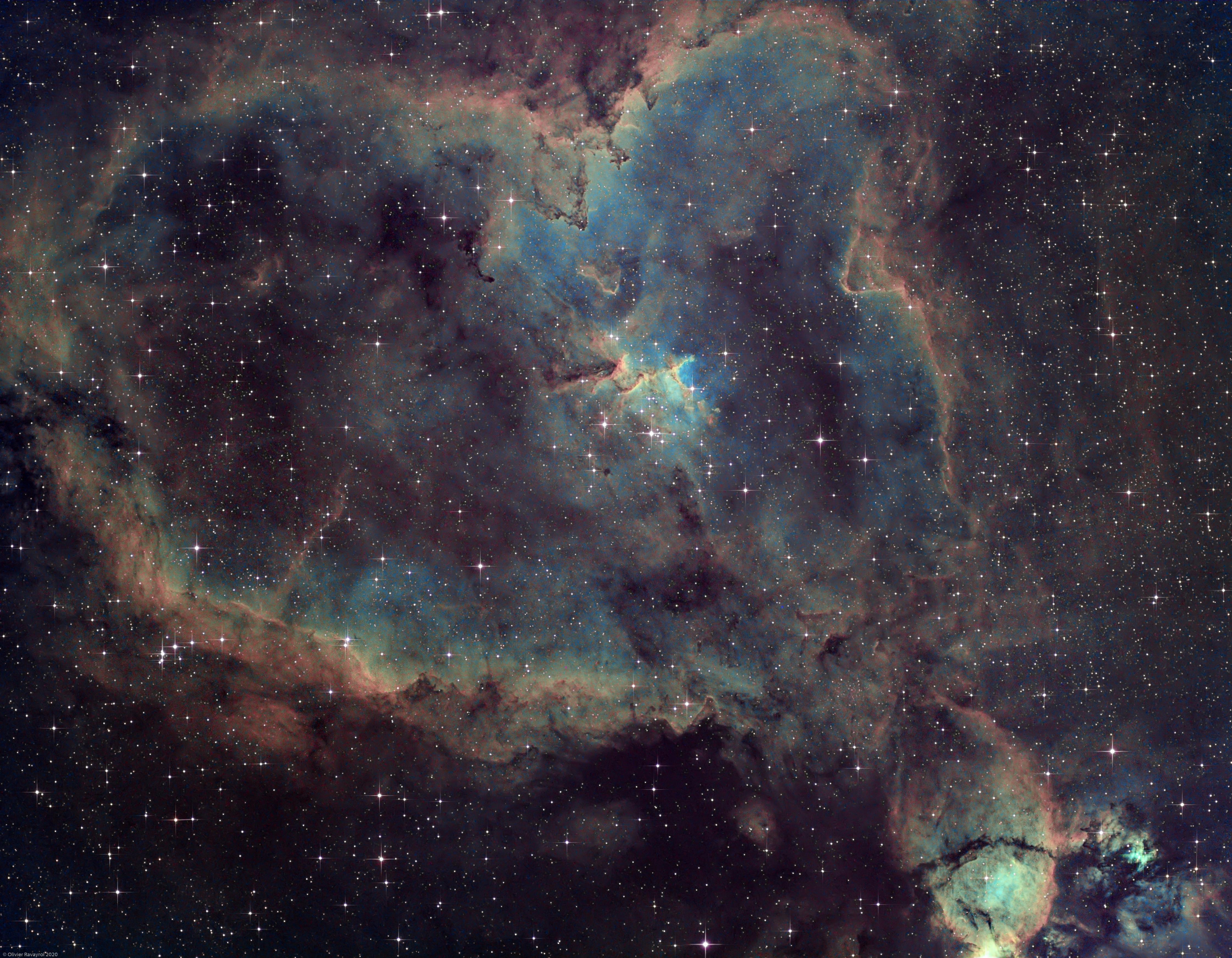 Heart Nebula (IC1805) & Fishhead Nebula (IC1795),                                Olivier Ravayrol