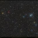 Cassiopeia: Sh2-188 (Simeiz 22) / NGC 457 (Owl Cluster) / NGC 436,                                Denis Demyanov