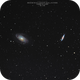 Bode's Galaxy & Cigar Galaxy, M82 & M81, Cropped FOV, 06-01-2019,                                Martin (Marty) Wise