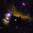 Flame Nebula (NGC2024) and the Horsehead Nebula (Barnard 33),                                Mike Missler