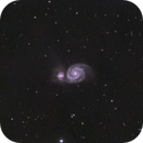 yes, another M51 - 450d data combined with 600d data - total over 6 hours exposure,                                Stefano Ciapetti