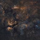 Deneb and the surrounding nebulosity,                                meeus