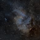 SH2-132  The Lion Nebula SHO,                                John