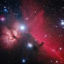ic 434 and flame nebula,                                gio24