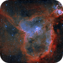 IC 1805 (Heart Nebula) bicolor,                                remidone