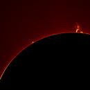 Sun Prominences as 2/6/2015,                                Jose Borrero