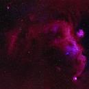 IC2177 Seagull Nebula - two panel, bicolor mosaic,                                equinoxx